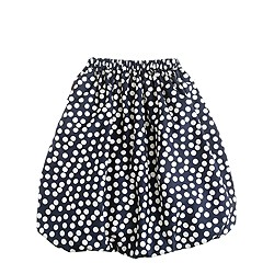 Girls' scatter-dot long bubble skirt
