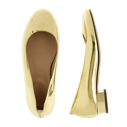 Girls' Janey mirror metallic flats