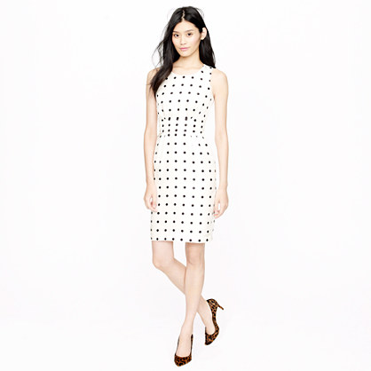 dotted cummerbund dress