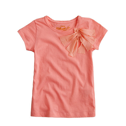 Girls' ribbon cluster tee