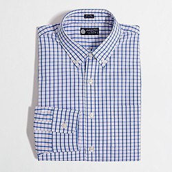 Factory button-down dress shirt in bold tattersall