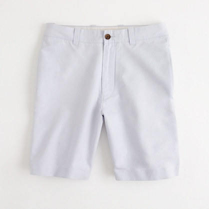 "Factory 9"" Gramercy short in sunwashed oxford"