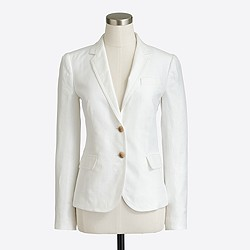 Factory tailored boy blazer in linen
