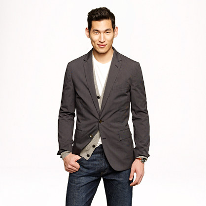 Unconstructed Ludlow sportcoat in Japanese cotton twill