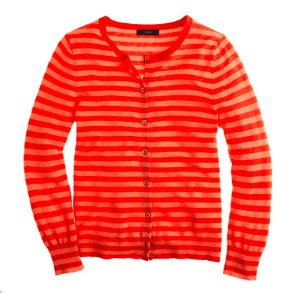 Collection featherweight cashmere cardigan in tonal stripe