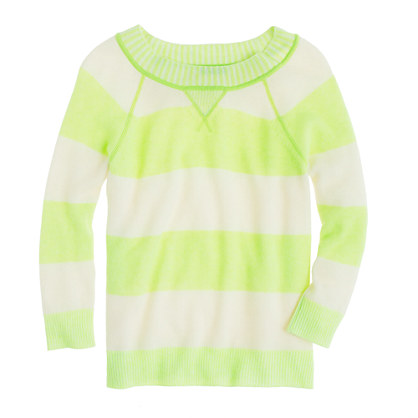 Collection cashmere plaited sweatshirt in stripe