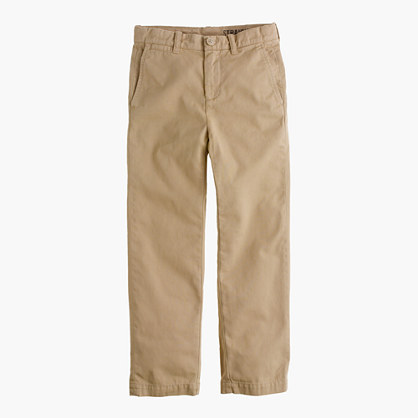 Boys' sun-faded chino in straight fit