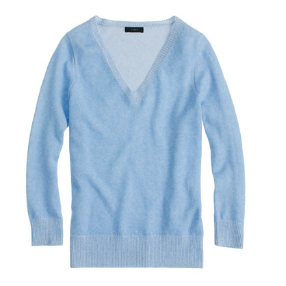 Collection cashmere plaited V-neck sweater
