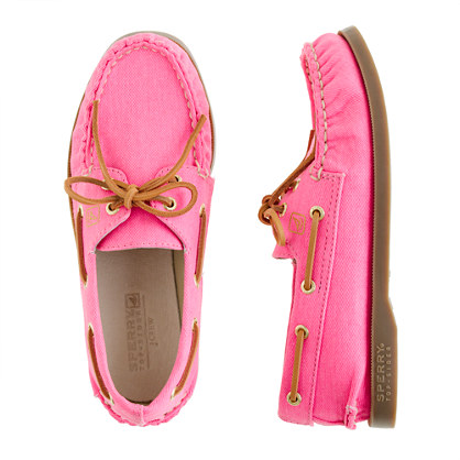 Girls' Sperry Top-Sider® Authentic Original 2-eye boat shoes in twill