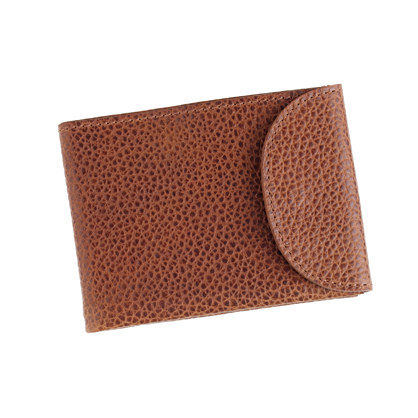 Leather snap billfold