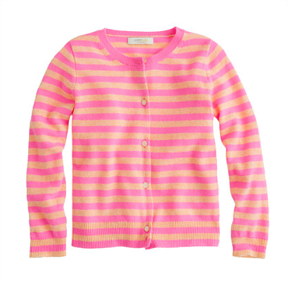 Girls' Collection cashmere cardigan in stripe
