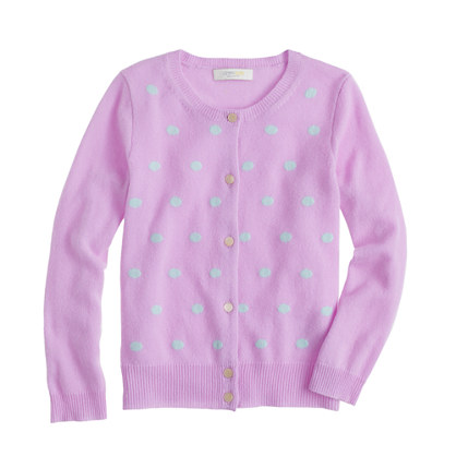 Girls' Collection cashmere dot cardigan