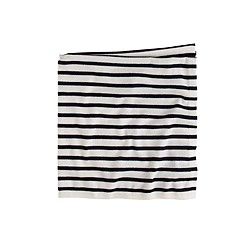Collection cashmere baby blanket in mini-stripe