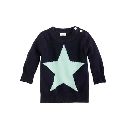 Collection cashmere baby sweater in star