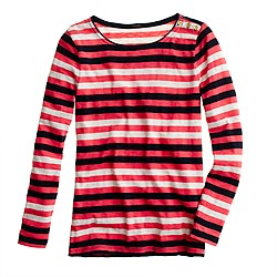 Painter boatneck button tee in multistripe
