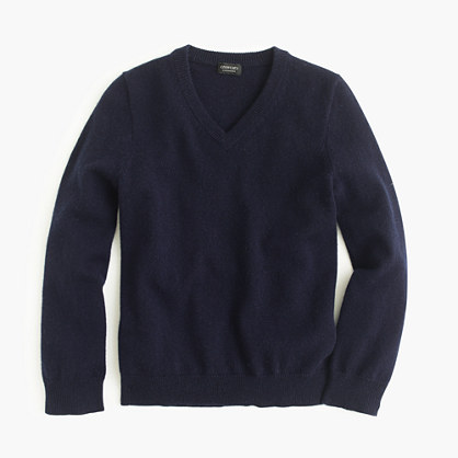 Kids' collection cashmere V-neck sweater