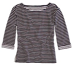 Mariner-stripe boatneck tee