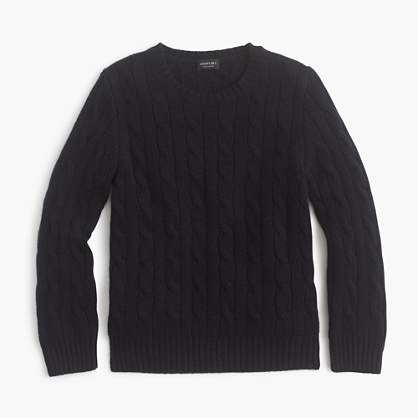 Kids' collection cashmere cable crewneck sweater