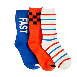 Boys' superfast socks three-pack