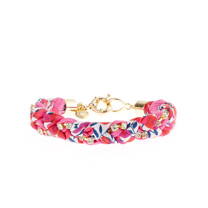 J.Crew Liberty crystal braid bracelet - pink berry - teal - fireworks - liberty print - liberty of london - presents gifts under 25