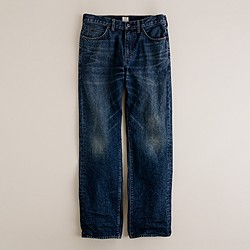 Straight jean in indigo medium worn wash