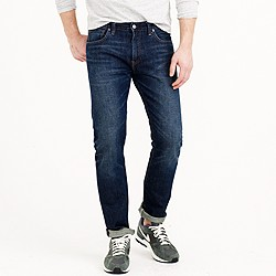 484 jean in dark worn wash