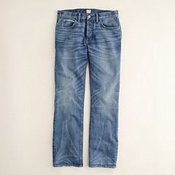 Slim-straight selvedge jean in medium worn wash