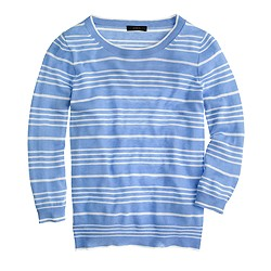 Collection featherweight cashmere sweater in pencil stripe
