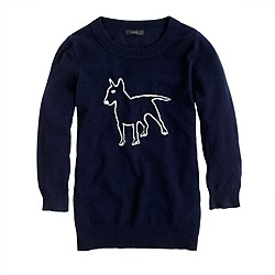 Hugo Guinness for J.Crew cashmere terrier sweater