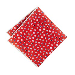 Ink-dot floral pocket square
