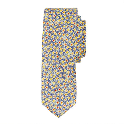 Liberty tie in speckle floral