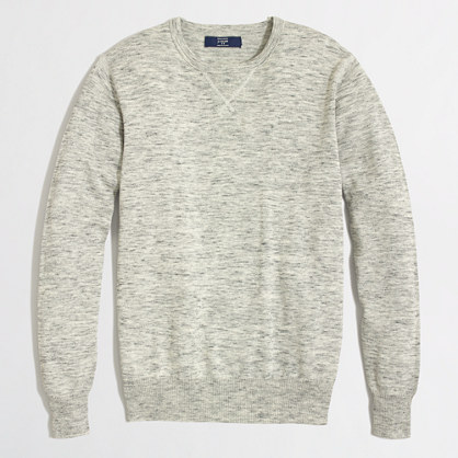 Factory heathered sweatshirt sweater