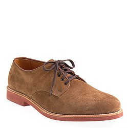 Limited-edition Alden® for J.Crew suede oxfords with red sole