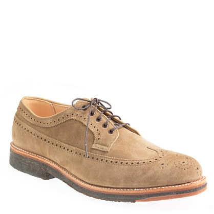 Limited-edition Alden® for J.Crew longwing suede bluchers