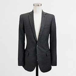 Factory Thompson two-button suit jacket with double vent