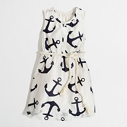 Factory girls' anchor rope dress