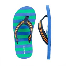 Kids' stripe flip-flops