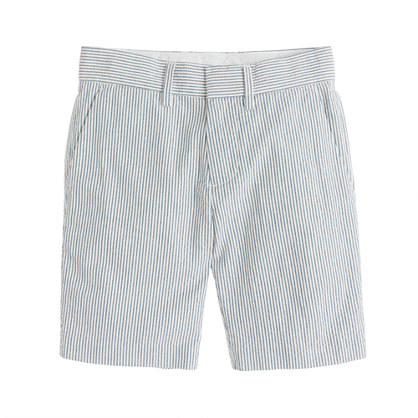 Boys' club short in seersucker