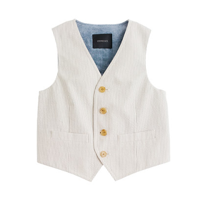 Boys' Ludlow suit vest in seersucker