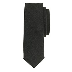Extra-long downtown wool tie