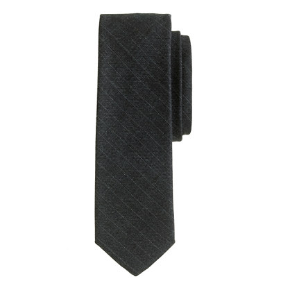 Italian wool tie in shadow stripe