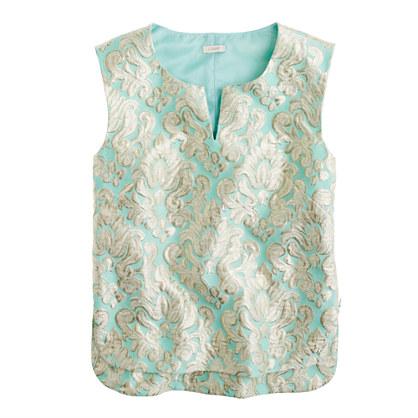Gilded brocade top
