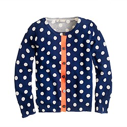 Girls' Caroline cardigan in graphic dot