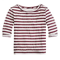 Elbow-sleeve tee in stripe