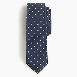 Silk Cambridge tie in large dot