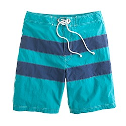 "9"" board shorts in wide stripe"