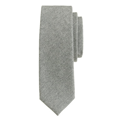 Extra-long classic grey wool tie
