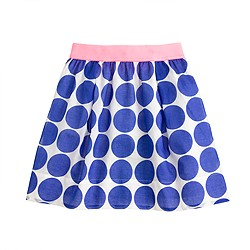 Girls' giant dot skirt