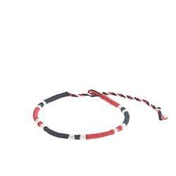 String bracelet in stripe