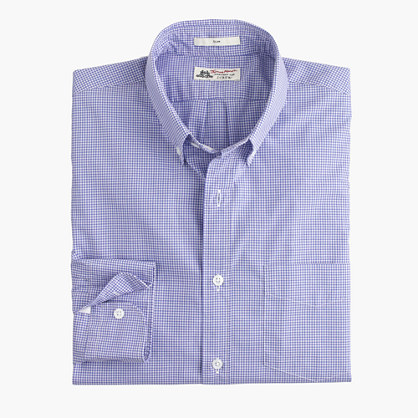 Slim Thomas Mason® for J.Crew shirt in baltic minigingham